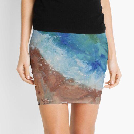 Seashore with Shells Mini Skirt