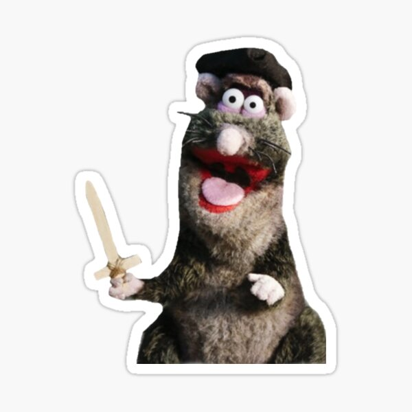Horrible Histories Rat with Sword Sticker