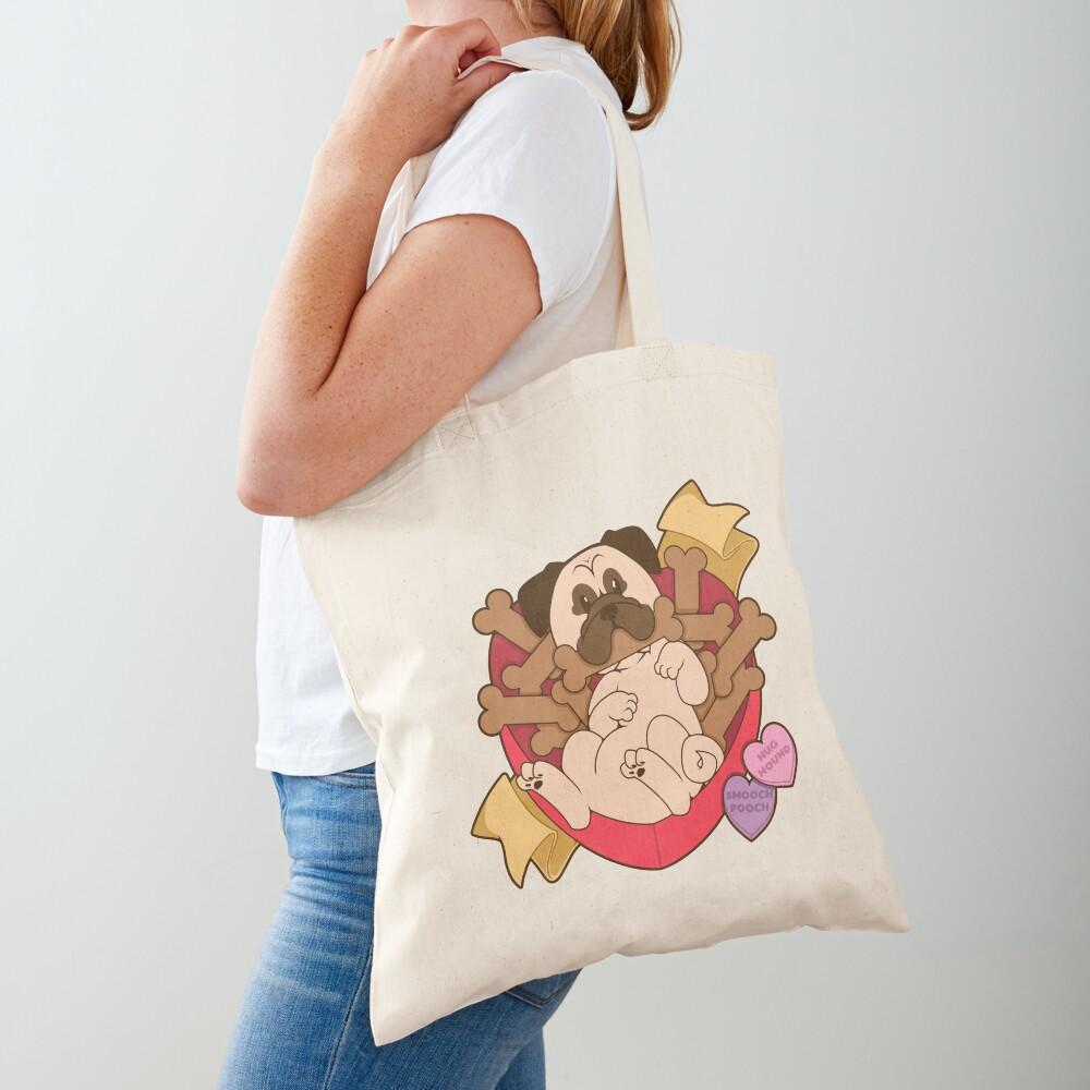 Valentines Box of Chocolates — Fawn Pug Tote Bag