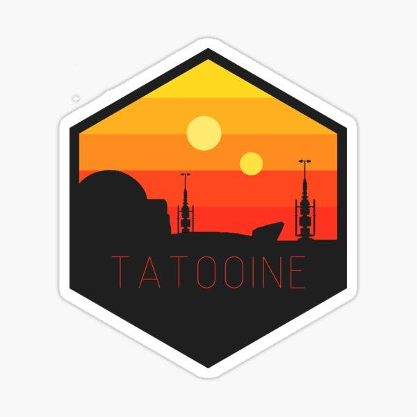 tatooine hexagon patch Sticker