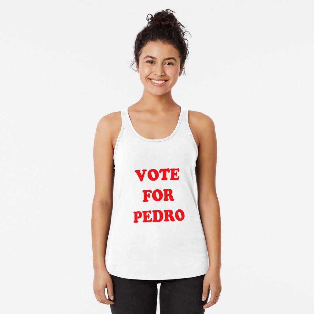 Vote for Pedro  Racerback Tank Top