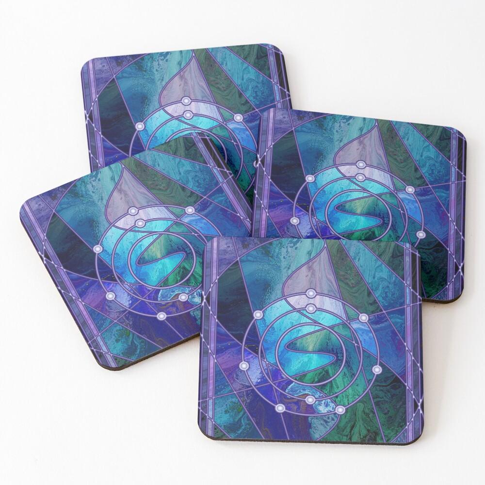 Element 9: Fluorine Coasters (Set of 4)