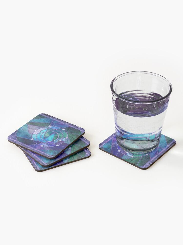 Alternate view of Element 9: Fluorine Coasters (Set of 4)