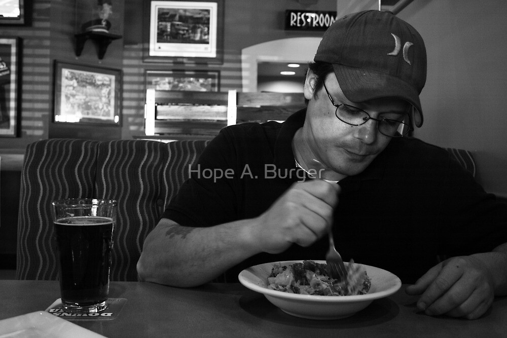 beer and a salad by Hope A. Burger
