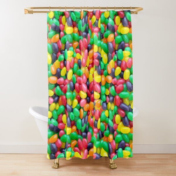 Jelly Bean Real Candy Pattern Shower Curtain