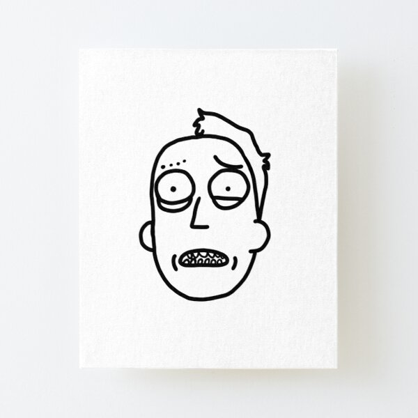 Jerry Smith | Rick and Morty Charakter Canvas Mounted Print