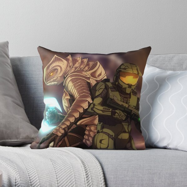 Halo 3 - Stand Together Throw Pillow