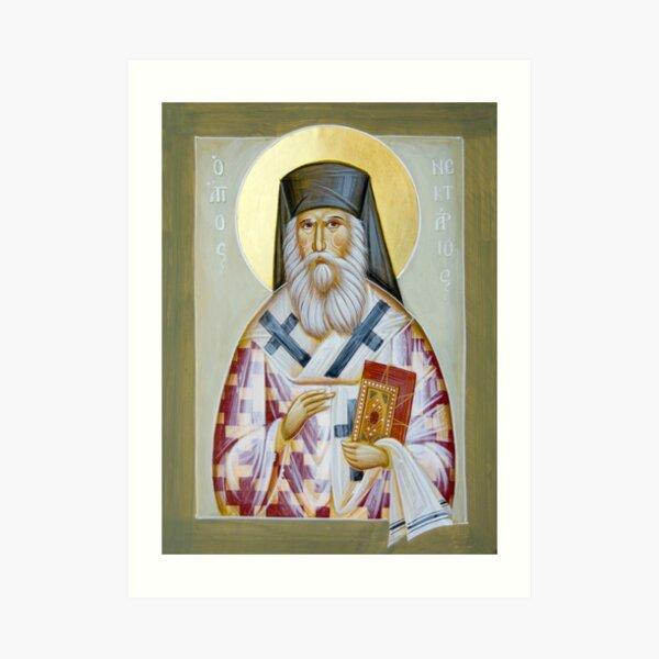 St Nektarios of Aigina Art Print