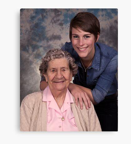 Me & my Grandma! Canvas Print