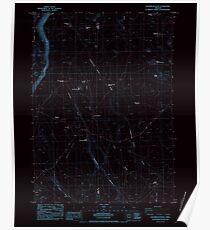 USGS Topo Map Oregon Sagebrush Knoll 281358 1984 24000 Inverted Poster