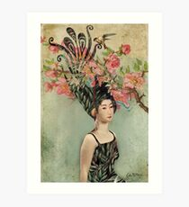 the cherry tree Art Print