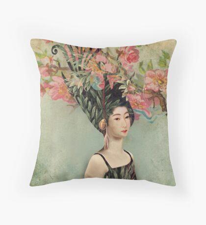 the cherry tree Throw Pillow