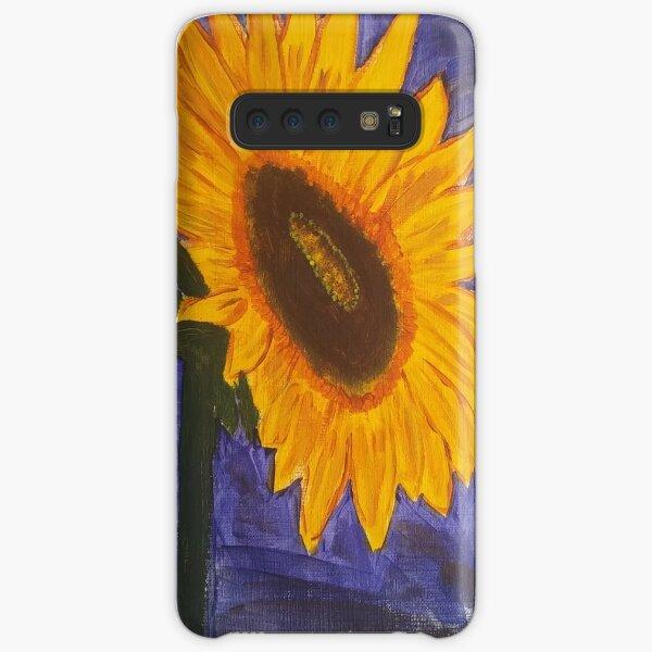 Sunflower on Dark Blue Samsung Galaxy Snap Case