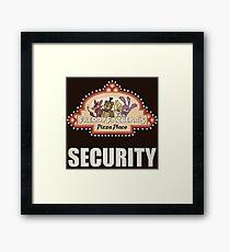 Five Nights at Freddy's - FNAF - Freddy Fazbear's Security Logo Framed Print