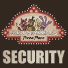 Five Nights at Freddy's - FNAF - Freddy Fazbear's Security Logo by Kaiserin