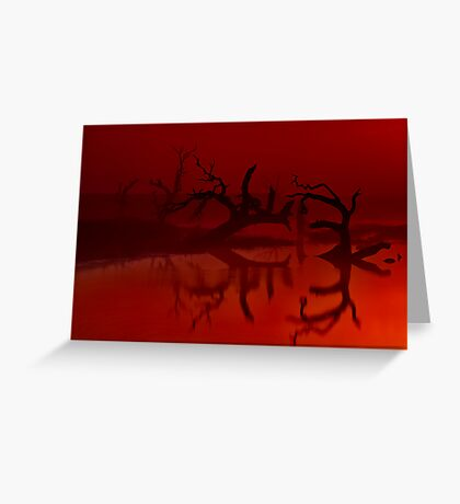 """""""Silhouettes in the Mist"""" Greeting Card"""