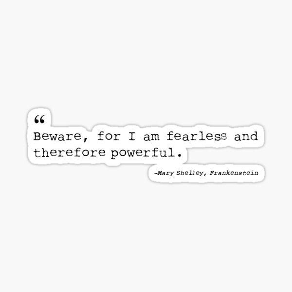 Frankenstein - Mary Shelley Sticker