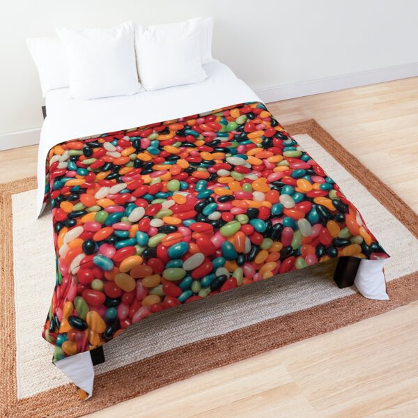 Vintage Jelly Bean Real Candy Pattern Comforter