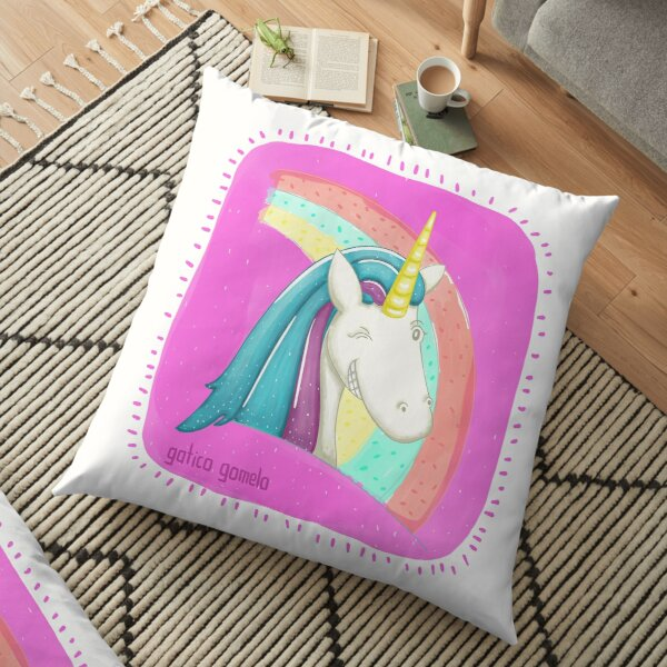 Watercolor unicorn Floor Pillow
