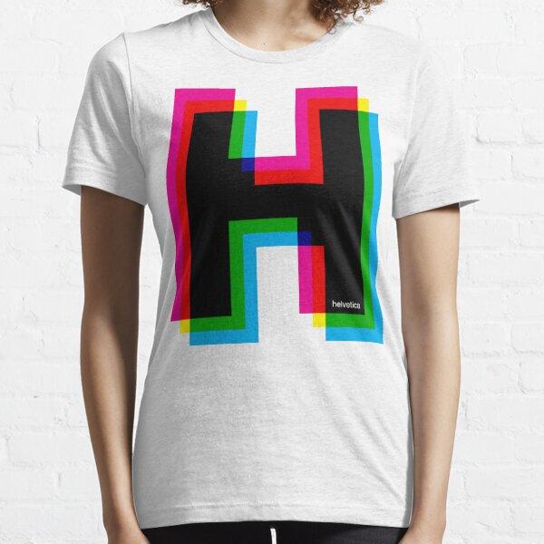 Helvetica H CMYK Essential T-Shirt