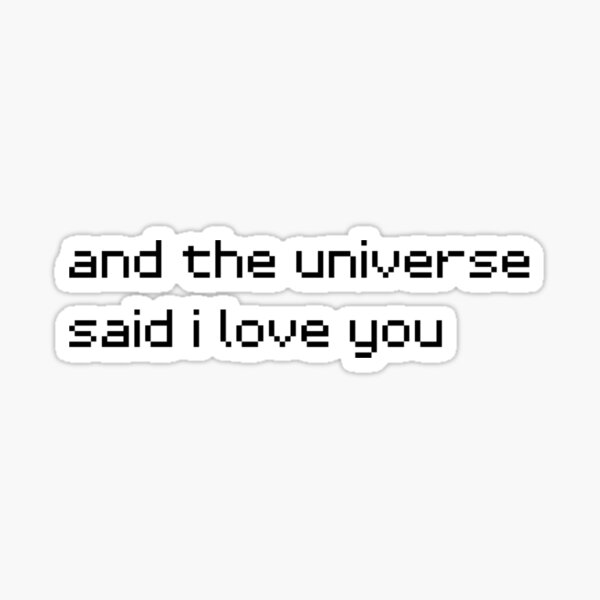 and the universe said i love you Sticker