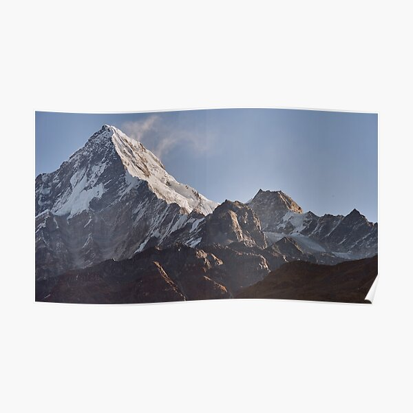 Annapurna South and Glacier, Nepal Poster