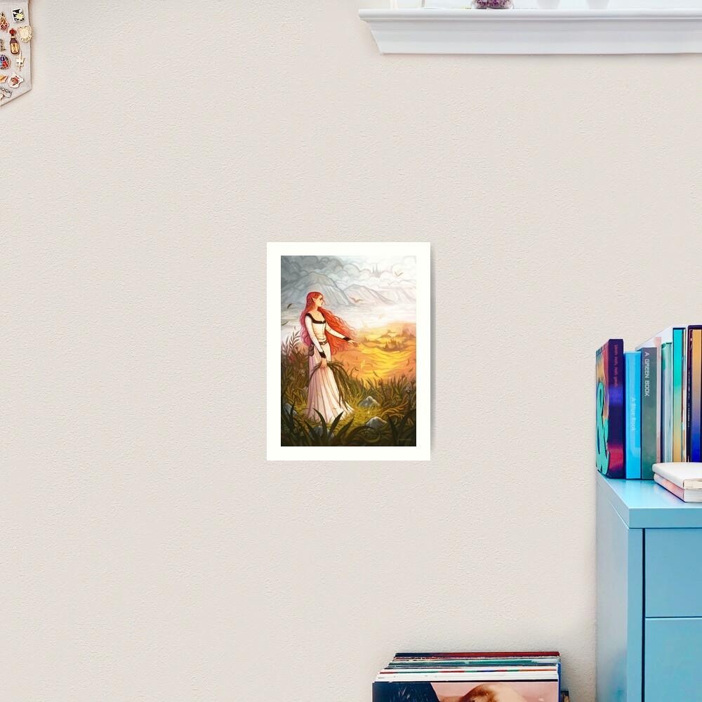 O Feitiço Que Vem Com o Vento Art Print