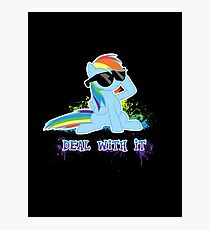 My Little Pony - MLP - Raindow Dash - Deal With It Photographic Print