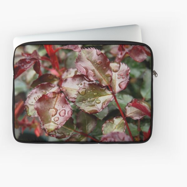 Raindrops on Roses Laptop Sleeve by Douglas E. Welch