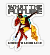 what the future used to look like Sticker