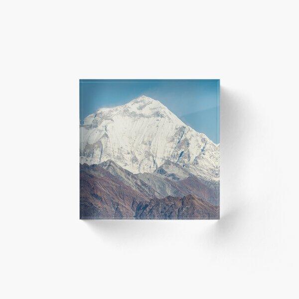 Dhaulagiri of The Himalayas, Nepal Acrylic Block