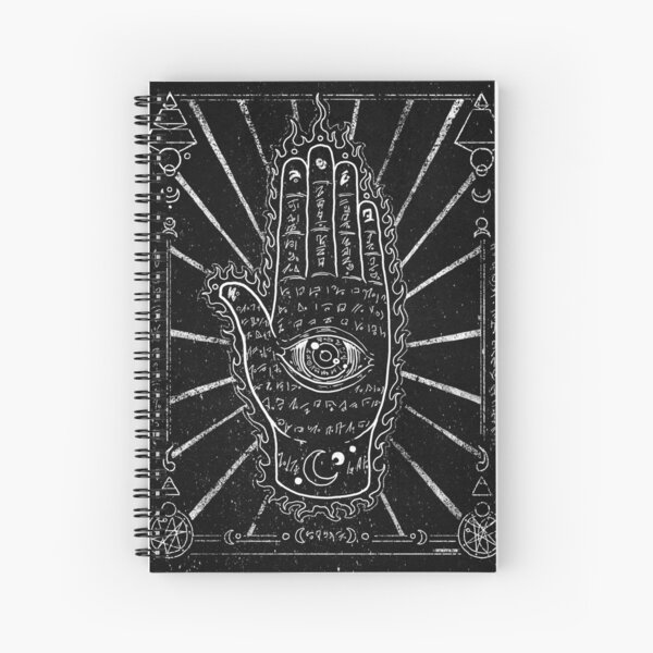 Hamsa Hand, Hand with Eye Spiral Notebook
