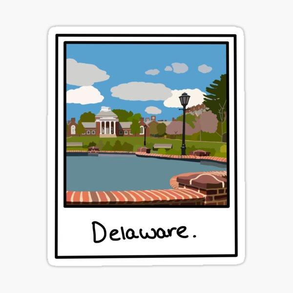 Delaware Polaroid ! Sticker