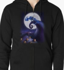 My Little Pony - MLP - Nightmare Before Christmas - Princess Luna's Lament Zipped Hoodie