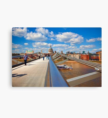 St Pauls Cathedral from Millennium Bridge London Canvas Print