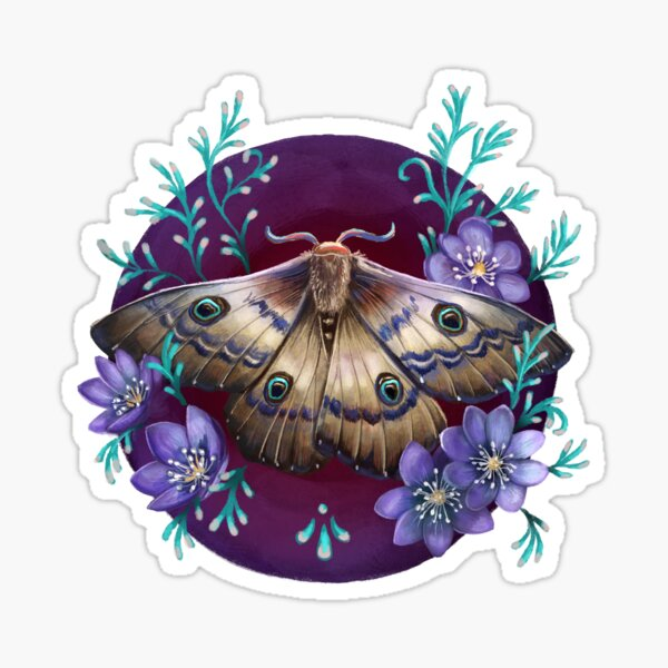 Mariposa nocturna Pegatina