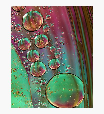 Purple Oil Abstract Photographic Print