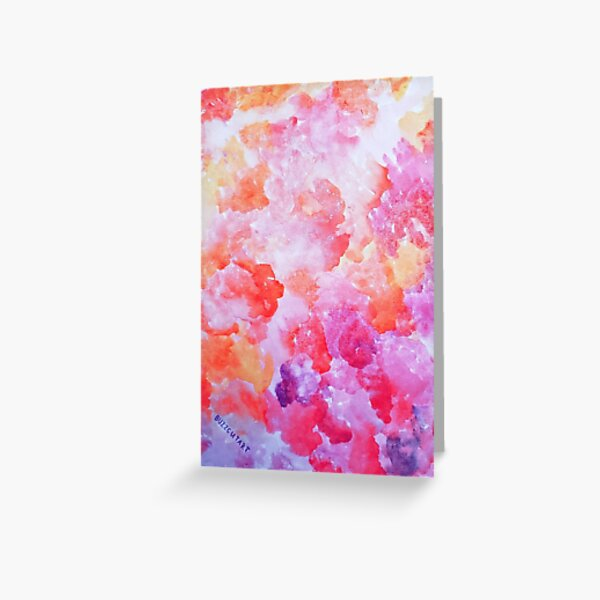 Pink Watercolor Clouds Greeting Card