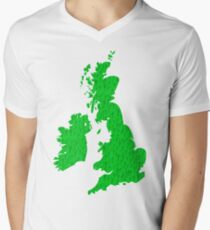 British Isles full of happy smiling people Mens V-Neck T-Shirt