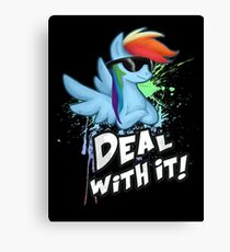 My Little Pony - MLP - Rainbow Dash - Deal With It Canvas Print