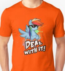 My Little Pony - MLP - Rainbow Dash - Deal With It Unisex T-Shirt