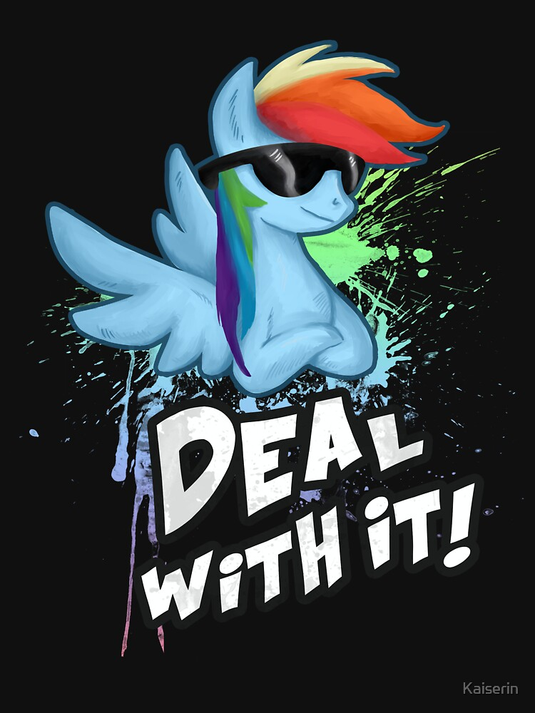 My Little Pony - MLP - Rainbow Dash - Deal With It | Unisex T-Shirt