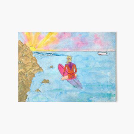 Sandtracks Surfer Girl Art Board Print