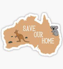 Donate to help Australia! Sticker