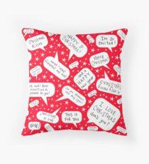 Christmas speech bubbles Throw Pillow