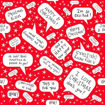 Christmas speech bubbles by WendyMassey