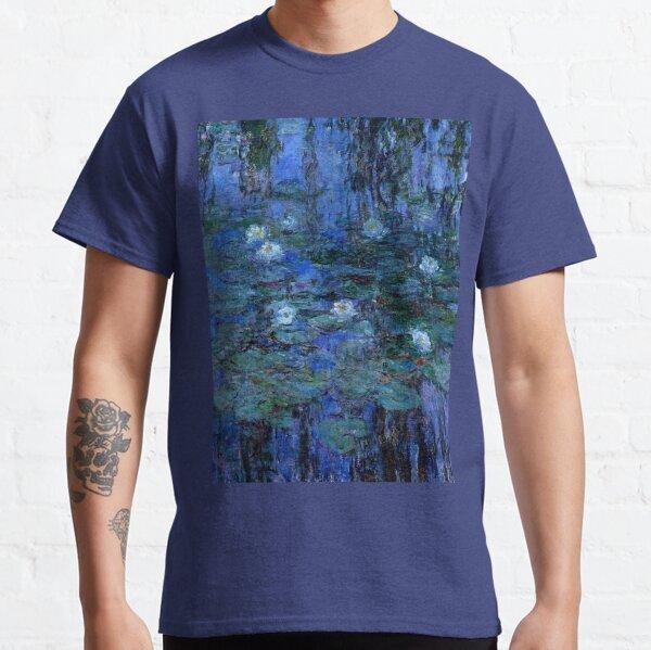 Water Lilies Monet vibrant blue Classic T-Shirt