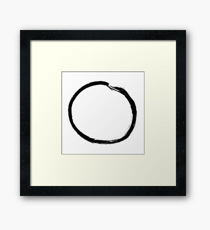 moon (haiga V) Framed Print