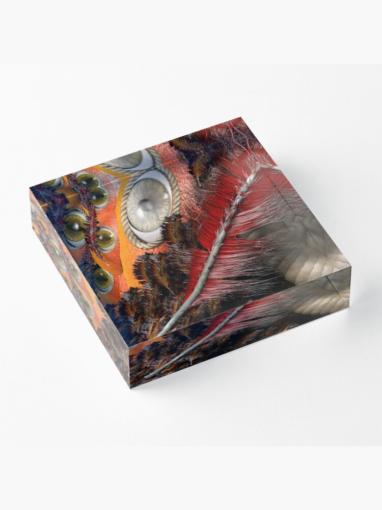 Alternate view of all eyes on you Acrylic Block