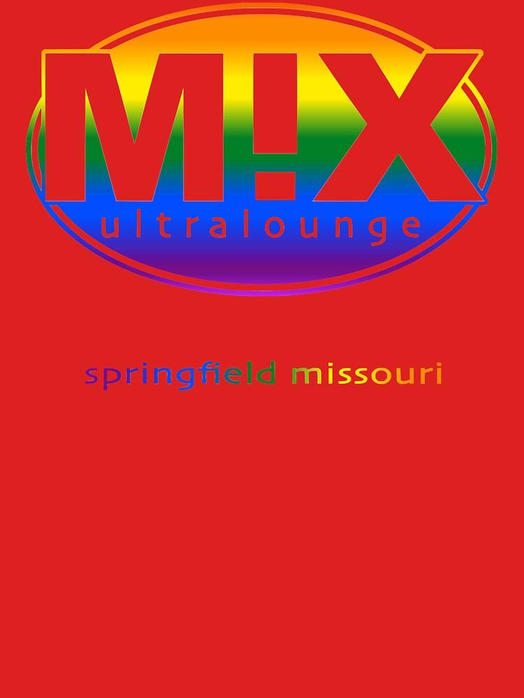 Mix Ultralounge Rainbow Logo on Red by jeremyrick
